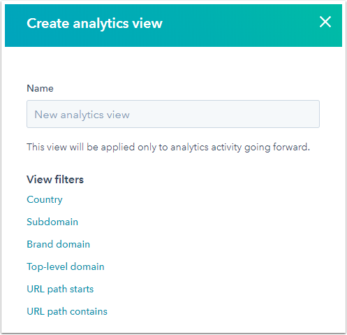 Manage filters with HubSpot analytics views feature