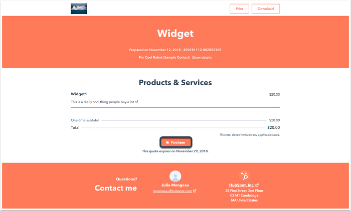 Use the Stripe integration with quotes in HubSpot