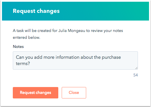 request-changes-dialog-box