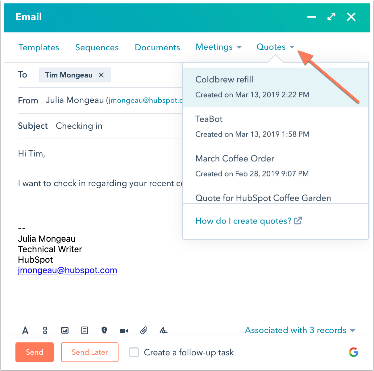 select-quote-from-crm-communicator