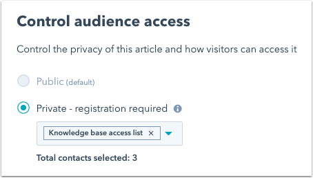 knowledge-article-audience-access