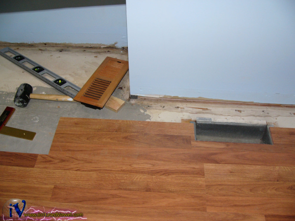 Flooring remodel with Pergo flooring