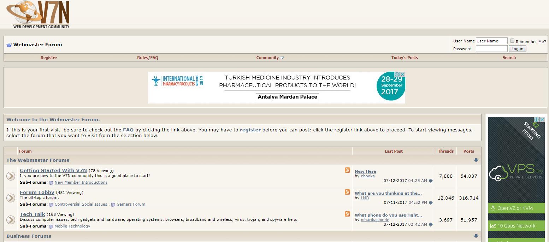 V7N homepage