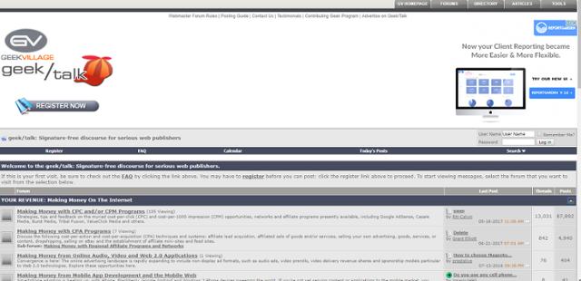 geekbillage homepage