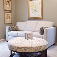 A beautiful redesigned living room at a retirement community