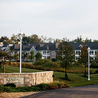 A view of Kendal at Granville community resident buildings.