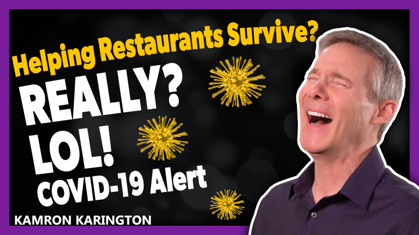 COVID-19 Restaurant Relief? LOL