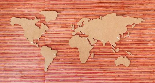 marketing global en mapa