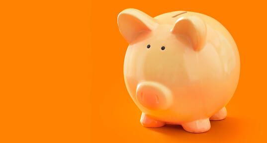 marketing budget plan from a piggy bank