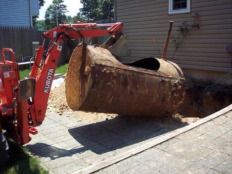 Oil Tank Demolition : Oil tank removal new jersey