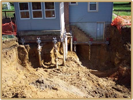 Foundation repair using helical piles chance helical pier for Pier foundation cost