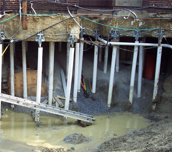 Helical Piers Pilings For Housing Raising Support