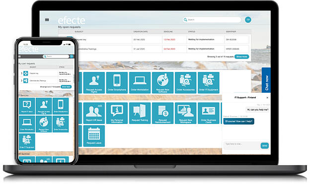 Service Management System Self-Service Portal