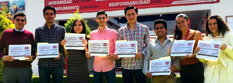 Alumnos de UVM Toluca ganan becas de excelencia para intercambio internacional