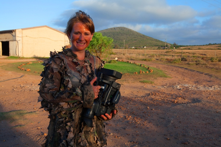 Wildlife Filmmaking Student in Camo!