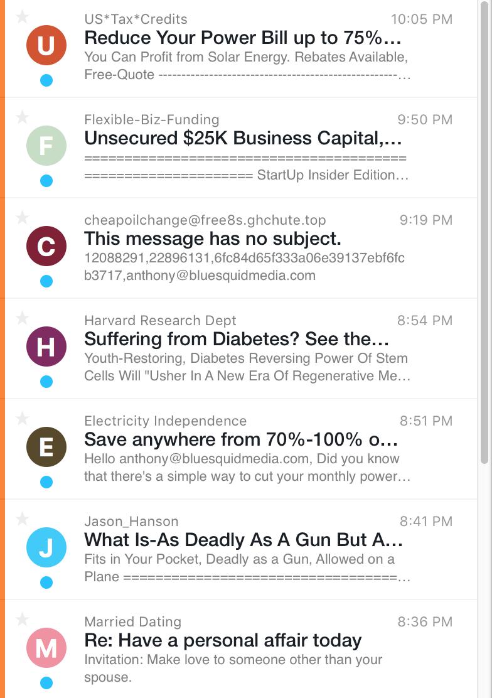 junk inbox