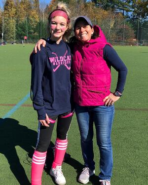 Dina and athlete