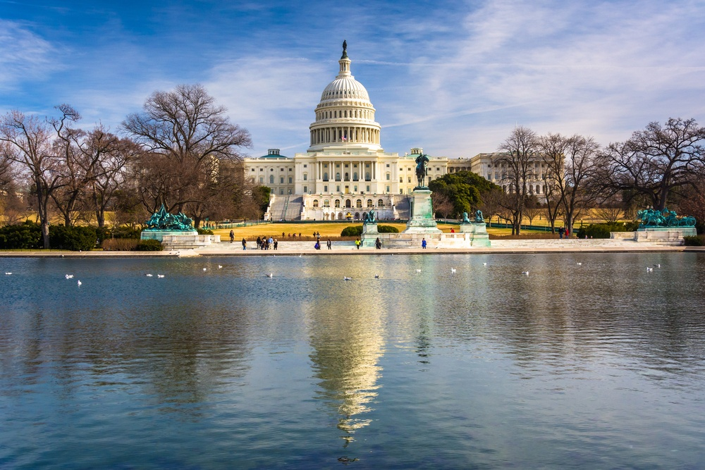The United States Capitol and reflecting pool in Washington, DC.-2