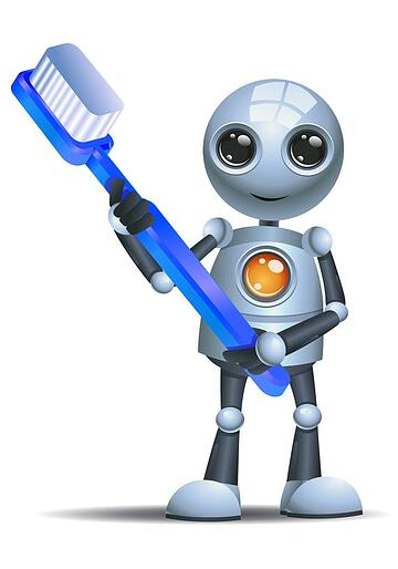 Cyber hygiene - robot with toothbrush - 24by7security.jpg