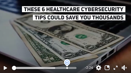 healthcare cybersecurity tips video