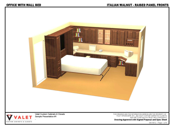 Italian Walnut Office With Wall Bed 1 resized 600