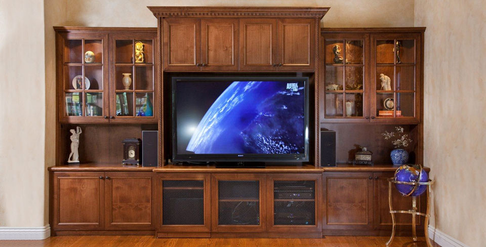 Custom media entertainment centers by valet custom cabinets amp closets