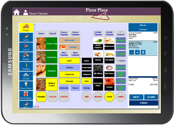 Restaurant Point of Sale for iPad and Android