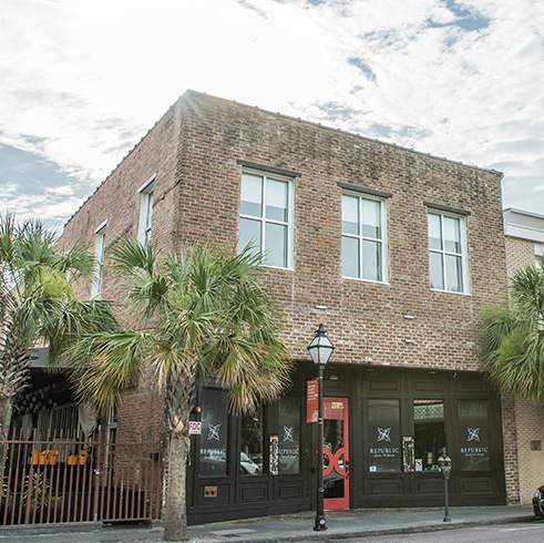Exterior photo of our Downtown Charleston location