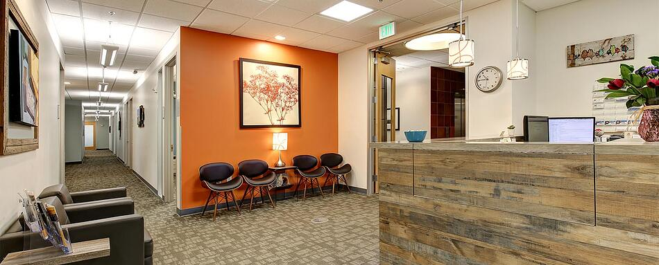 First interior picture of our Belmar Lakewood Office Evolution Location