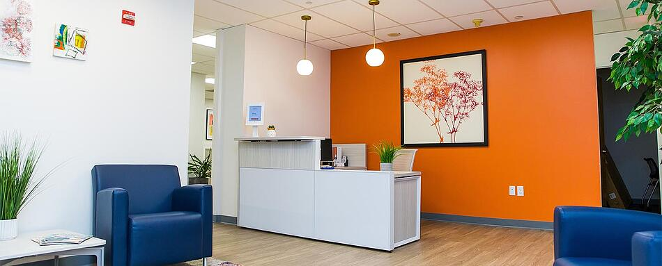 First interior picture of our Union County Clark Office Evolution Location
