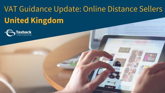 Online distance Sellers VAT Update UK