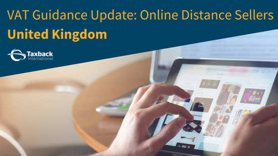Online distance Sellers VAT Update UK