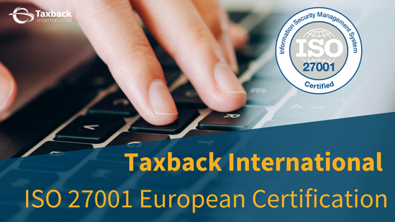 Taxback Internaional awarded ISO Certification