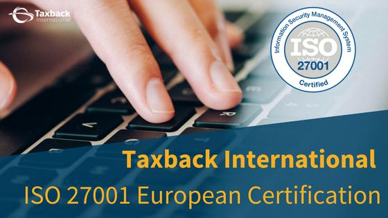 Taxback Internaional awarded ISO Certification