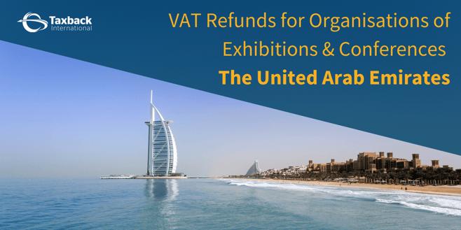 VAT refunds exhibitions conferences UAE