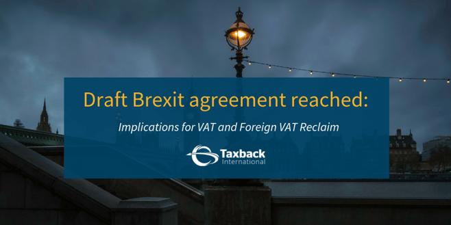 Draft Brexit deal - VAT implications