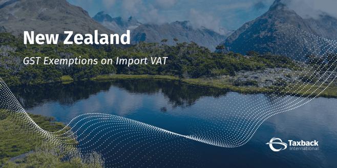 New Zealand GST import vat