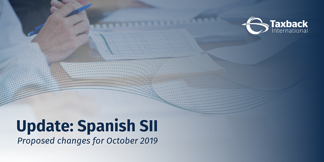 Spanish SII Changes October 2019
