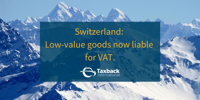 Swiss VAT Changes 2019