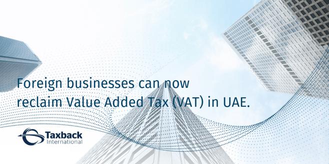 UAE VAT reclaim