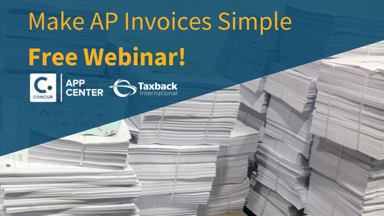 SAP Concur Invoice and Taxback International