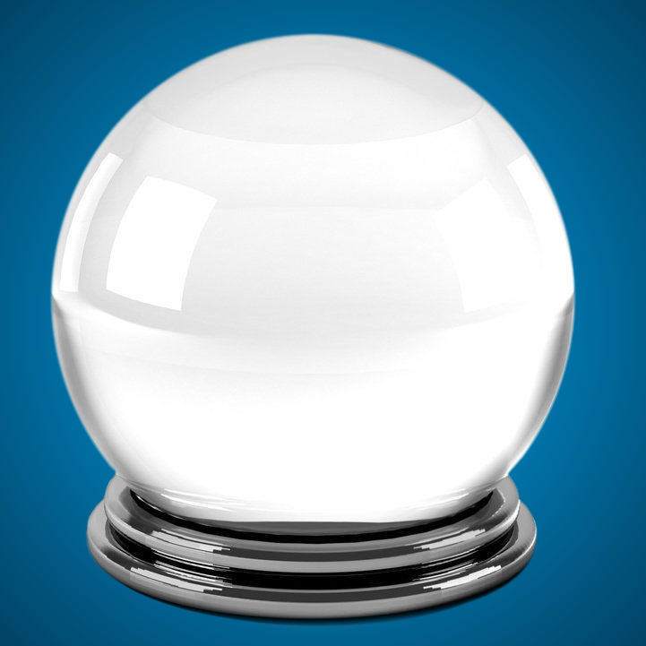 Magic crystal ball isolated over a white background