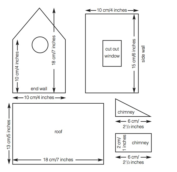 Gingerbread House Patterns Templates Simple recipes, house plan