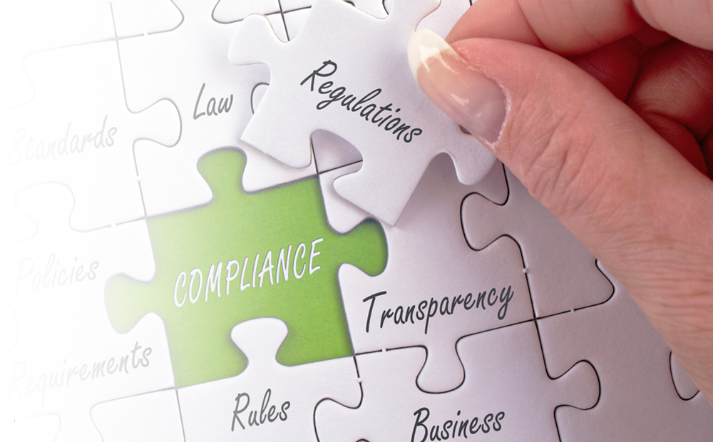 Business Compliance Regulations Puzzle