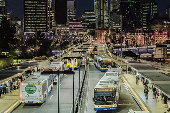 Buses at Cutural Centre, Brisbane 590x-1