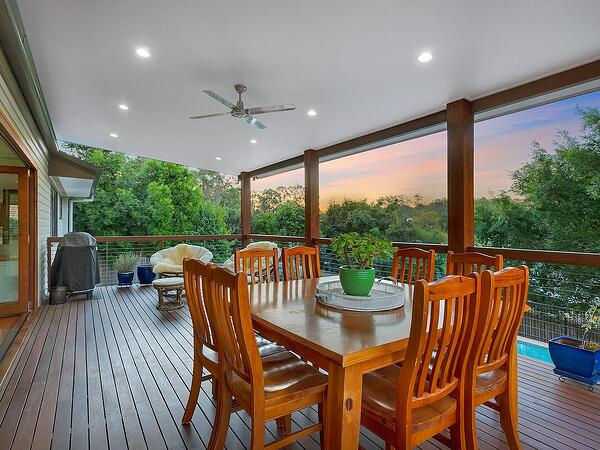 kenmore large deck with view