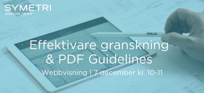 Webbvisning: Effektivare granskning & PDF Guidelines