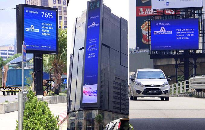 In Malaysia, Billboards Create Awareness about Advertising Fraud