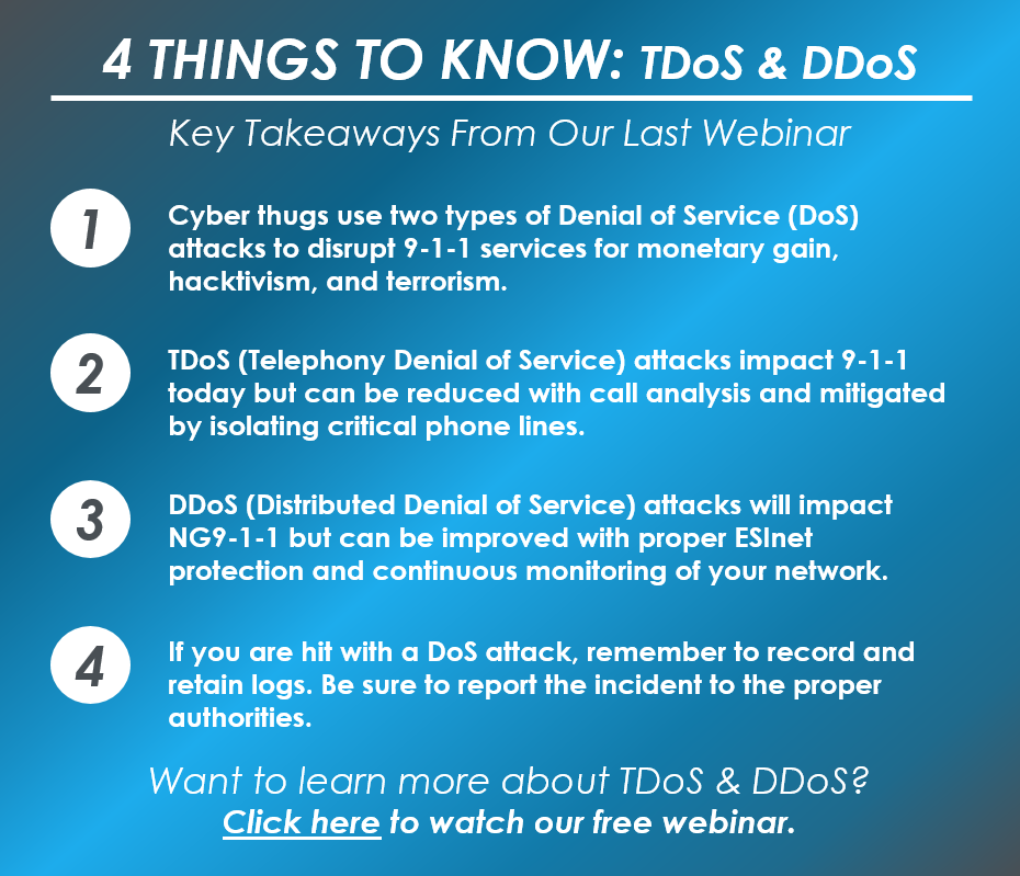 4 Things to Know_TDoS DDoS