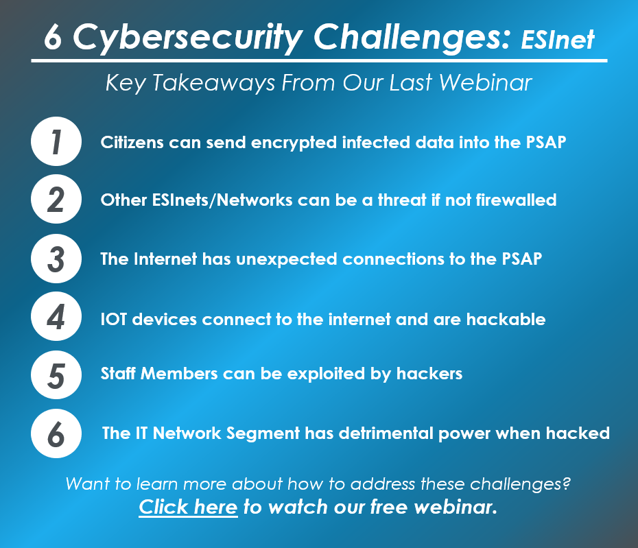 6 Cybersecurity Challenges ESInet - Apr 2018
